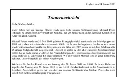 Trauernachricht Günter Baumanns