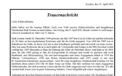 Trauernachricht Rudi Joosten